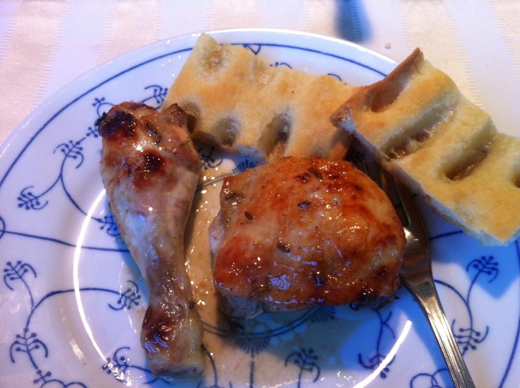 Pollo con miele, lavanda e limone