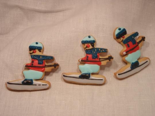 Biscottini sciatori al profumo di arance